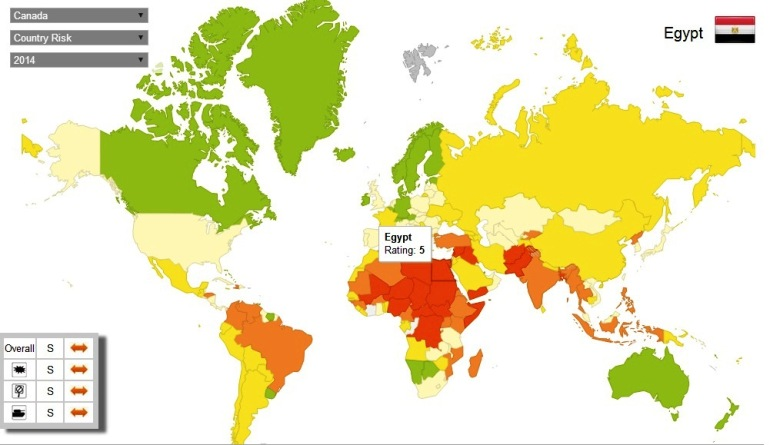 Aon Interactive Country Risk Map_2014